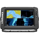 LOWRANCE ELITE-9 TI² COMBO W/ACTIVE IMAGING 3-IN-1 TRANSOM MOUNT TRANSDUCER US INLAND CHART