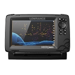 LOWRANCE HOOK REVEAL 7X FISHFINDER W/SPLITSHOT TRANSOM MOUNT TRANSDUCER