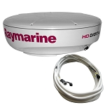 RAYMARINE RD418HD HI-DEF DIGITAL RADAR DOME W/10M CABLE