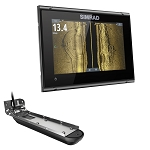 SIMRAD GO7 XSR W/ACTIVE IMAGING 3-IN-1 TRANSOM MOUNT TRANSDUCER C-MAP PRO CHART