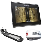 SIMRAD GO9 XSE COMBO W/ACTIVE IMAGING 3-IN-1 TRANSOM MOUNT TRANSDUCER 4G RADAR C-MAP PRO CHART