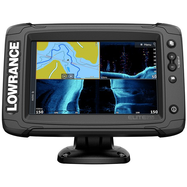 LOWRANCE ELITE-7 TI² COMBO US INLAND W/MID/HIGH SKIMMER TRANSOM MOUNT ACTIVE IMAGING 2-IN-1 TRANSDUCER  Y CABLE
