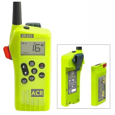 ACR SR203 GMDSS Survival Radio w/Replaceable Lithium Battery  2827