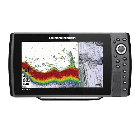 HUMMINBIRD HELIX 10 CHIRP FISHFINDER/GPS COMBO G3N W/TRANSOM MOUNT TRANSDUCER