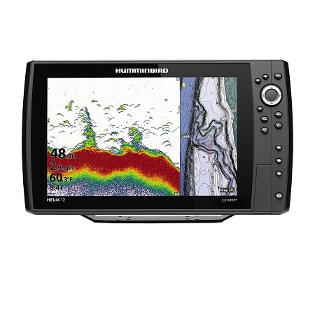 HUMMINBIRD HELIX 12 CHIRP FISHFINDER/GPS COMBO G3N W/TRANSOM MOUNT TRANSDUCER