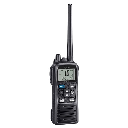 Icom M73 Handheld VHF  6 Watts  IPX8 Submersible  Black